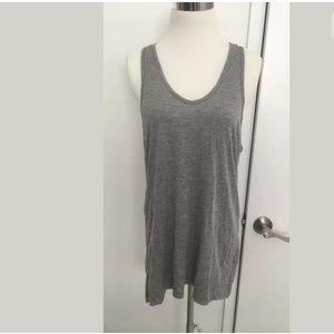 Zara T-Shirts Gray Tank Top Dress Tunic Racer